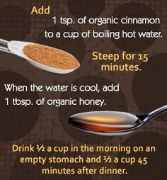Honey and Cinnamon for Weight Loss, but also helping your body process sugars in general! Worth a try
