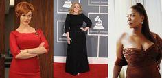 Christina Hendricks-Adele-Queen Latifa   3 Sexy Big Women.