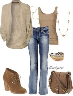 Stylist: this is a perfect outfit for fall! Love the sweater, colors and style of everything.