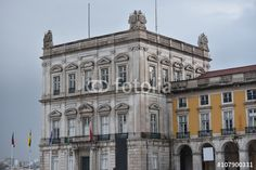 """Download the royalty-free photo """"Building over the Commerce Square, Lisbon, Portugal """" created by Ciaobucarest at the lowest price on Fotolia.com. Browse our cheap image bank online to find the perfect stock photo for your marketing projects!"""