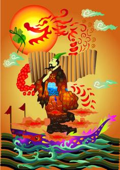 duanwu festival poster design ( illustrator)
