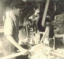 Teenager operating machinery, 1913, by Lewis Hine. (LC-DIG-nclc-04898) This is a great essay that sums up the progression of the Industrial Age and how it affected workers. It also provides more sources near the bottom of the page.