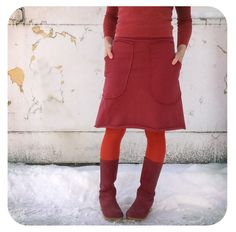 orangyporangy - JANE- hoodie skirt in orangy-red, $58.00 (http://www.orangyporangy.com/jane-hoodie-skirt-in-orangy-red/)