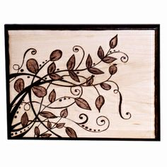 Wood Burmed Flourish Project using Walnut Hollow's Creative Woodburner® Value Pen, Basswood Rectangle Plaque and Graphite Transfer Paper.