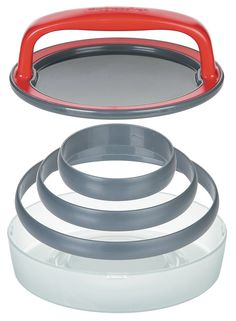 This patty press helps you make the perfect burger every time. This 5 piece set creates perfectly sized sliders, third and quarter pound burger patties. It also includes a press, three patty molds and a convenient storage case. Hamburger Maker, Hamburger Sliders, Hamburger Patties, Burger Party, Burger Press, Cooking Network, How To Grill Steak, Good Burger, Cuisine