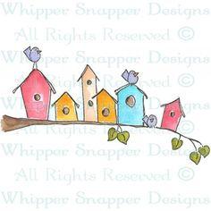 BIRDHOUSES MAIN STREET - WHIPPER SNAPPER DESIGNS