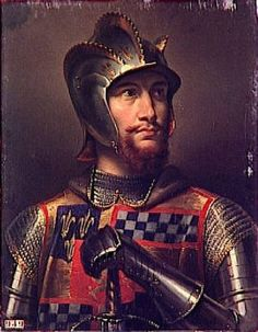 Sir John Stewart of Darnley Lord of Concressault and Seigneur de Aubigny, Count of Évreux - A Scottish nobleman and prominent soldier during the Hundred Years War. He was killed in the Battle of the Herrings, during the siege of Orléans, France in William Stewart, Joseph, King James I, Medieval, Mary Queen Of Scots, Scottish Castles, Viking Warrior, Grave Memorials, Dark Ages