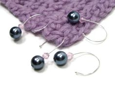 Beaded Crochet Stitch Markers Set Snag Free DIY by TJBdesigns, $6.00