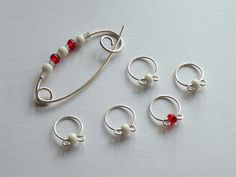 stitch markers and shawl pin