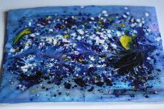 Starry Night Art Project for Kids - Melting Crayon Art