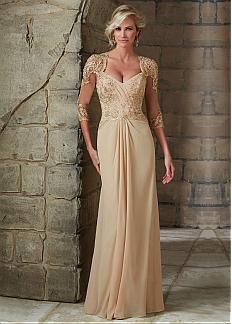 c0992597c5c Fabulous Tulle   Chiffon Queen Anne A-line Mother of The Bride Dress with  Lace