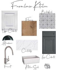 Kitchen interior design – Home Decor Interior Designs Home Interior, Modern Interior Design, Interior Design Boards, Mood Board Interior, Kitchen Redo, Kitchen Remodel, Home Renovation, Home Remodeling, Decoration Design