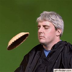Slow-motion pie to the face