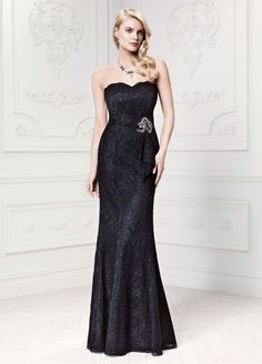Long Lace Fit and Flare Dress Style ZP281423