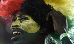 Hincha de Ghana en Brasil 2014.