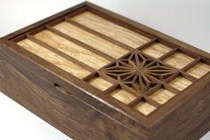 'Asa No Ha' Walnut Keepsake box Large -SOLD
