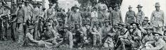 Troops heading off to fight in World War I. Photo taken at the Washington County Fairgrounds.