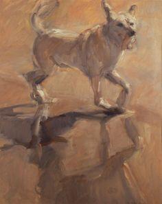 Dog on the Beach   Perro en la Playa ANTONIO AGUDO (Sevilla, 1940)