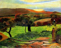 Gauguin Paysage Breton au bord de mer