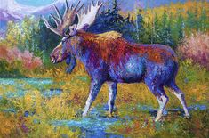 Great Big Canvas Autumn Glimpse by Marion Rose Painting Print on Wrapped Canvas Size: H x W x D Rose Painting, Canvas Prints, Great Big Canvas, Moose Painting, Painting, Painting Prints, Canvas Art, Trademark Art, Trademark Fine Art