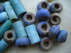 Chinese faience beads from northwest of SiChuan province  excavated in Warring States(475 BC.-221 BC.)