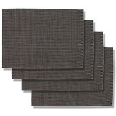 Table Placemat Covers Lunch Breakfeast Dinner Outdoor Indoor Kitchen Table Crossweave Placemat  Black w Grey 8 Pack 18L x 125W x 1H inches *** Read more  at the image link.
