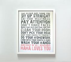 11x14 Mama Loves You in Pink