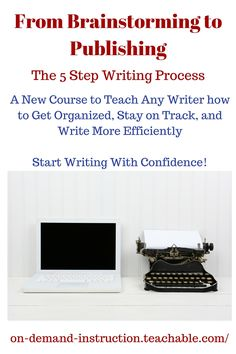 From Brainstorming to Publishing 50% OFF AUGUST 1-8. Start the self-paced online course now and be ready to write this fall.