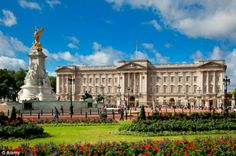 Royal home: The photo, commissioned as part of Britain's GREAT campaign, was taken at Buckingham Palace