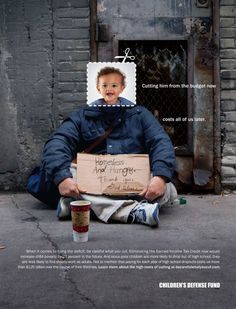 Children's Defense Fund: Be Careful What You Cut, Homeless