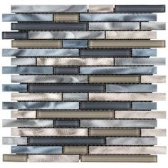 Jeffrey Court Out to Sea 12.5 in. x 12 in. x 8 mm Glass/Metal Mosaic Wall Tile-99582 - The Home Depot