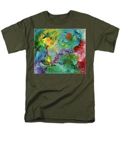 Abstract Men's T-Shirt  (Regular Fit) featuring the painting Celebration by Noa Yerushalmi