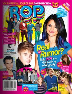 """April 2012 BOP is on stands - IN BOP THIS MONTH: Justin just turned but that doesn't mean he's ready to grow up fast â€"""" or that he's Selena Gomez Poster, Tiger Beat, Biggest Fears, One Direction, Gossip, Growing Up, Interview, Memories, Magazine Covers"""