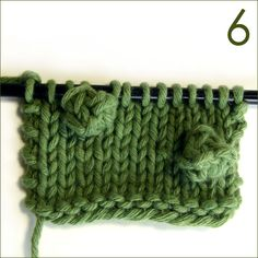 Bobble knitting stitch