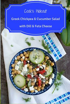 Greek Chickpea-Cucumber Salad with Dill & Feta cheese -- Cook's Hideout