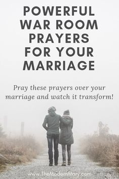 8 powerful war room prayers to pray over your marriage.