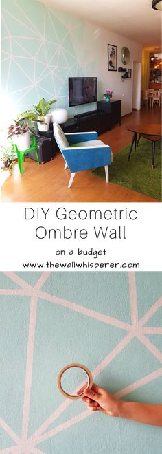 DIY accent wall, on a dudget. Affordable home decor. Easy and simple ombre gradient effect. DIY TV wall decor. #diy #diyhomedecor #homedecor #homestyling #accentwall #wallart #walldecor #roommakeovert