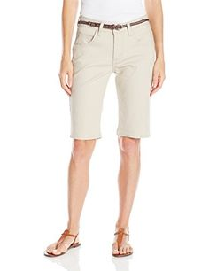 Special Offer: $16.99 amazon.com This Riders by Lee indigo Bermuda short is a great update to your summer wardrobe. This perfect midrise short has a modest yet stylish 11 inch inseam. The belt is included for a polished finish to any outfit.Midrise stretch-denim Bermuda short featuring...