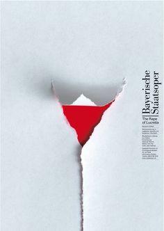 Print design. Pierre Mendell. The Rape of Lucretia. Bavarian State Opera. 2004
