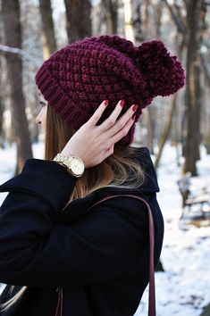 Beanie Knit Idea.  More Pics :)