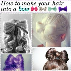 """""""how to make your hair into a bow ♥"""" by polytipsforgirls on Polyvore"""