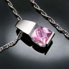 pink topaz necklace, wedding necklace, baby pink topaz, eco-friendly,silver necklace,  Argentium silver, gemstone jewelry - 3431