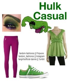 The Hulk by fandom-fashionss on Polyvore featuring polyvore, fashion, style, Max Studio, Emilio Pucci, Converse and clothing