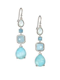 IPPOLITA Rock Candy Milky Aquamarine, Larimar, Aquamarine, Blue Topaz & Sterling Silver Drop Earrings