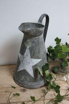 zinc pitcher with star