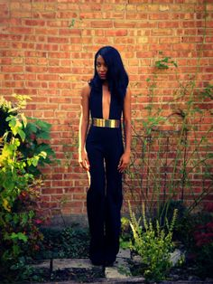 Backless Metal Belted Wide Leg Jumpsuit. If I were the tall, skinny, model type... lol