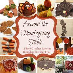 Fiber Flux: Around The Thanksgiving Table! 12 Free Crochet Patterns