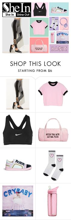 """Cute sport idk"" by kimberly-pera ❤ liked on Polyvore featuring NIKE, ban.do, Sophia Webster, Topshop, CamelBak and Urbanears"