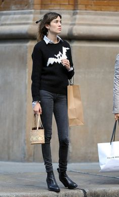 Alexa Chung - Alexa Chung Strolls Around NYC