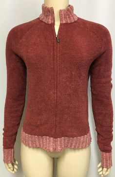 Exofficio Sweater M Women's Full Zip Cardigan Top Rust Layer Jacket Workout Yoga #Exofficio #FullZip